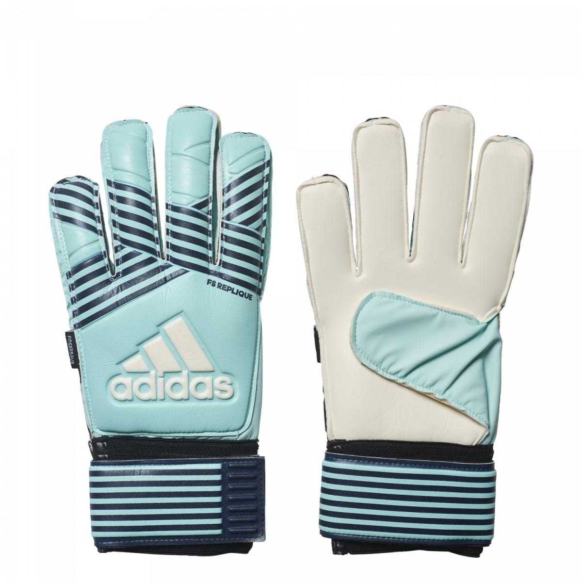 adidas ACE Fingersave Replique Torwarthandschuhe Herren Fußball blau