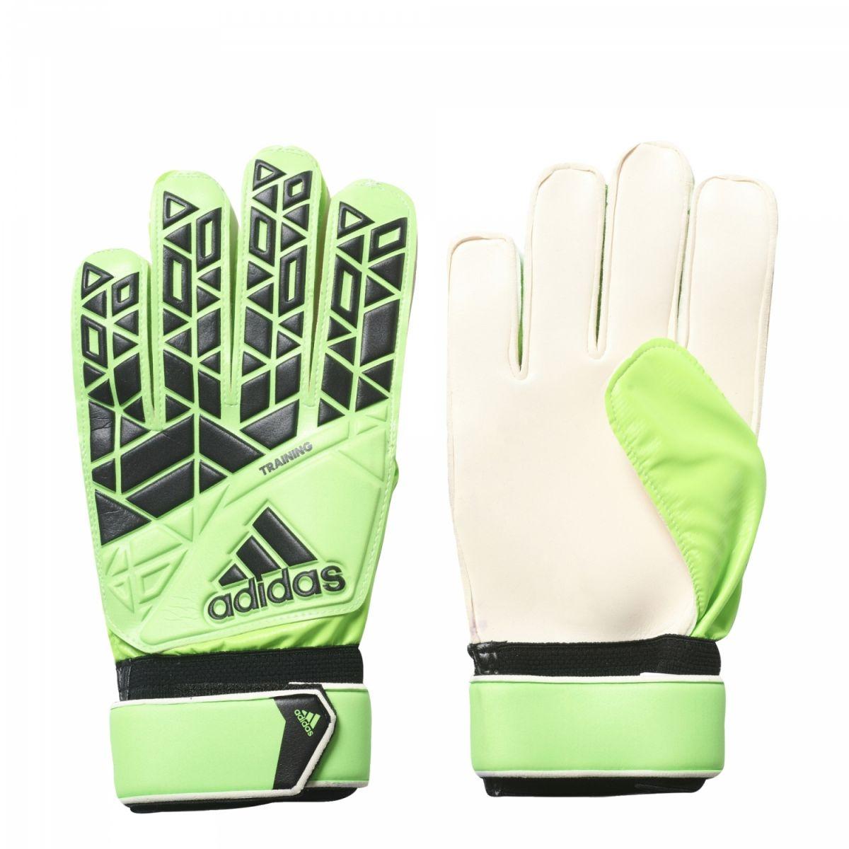 adidas ACE Training Torwarthandschuhe grün schwarz