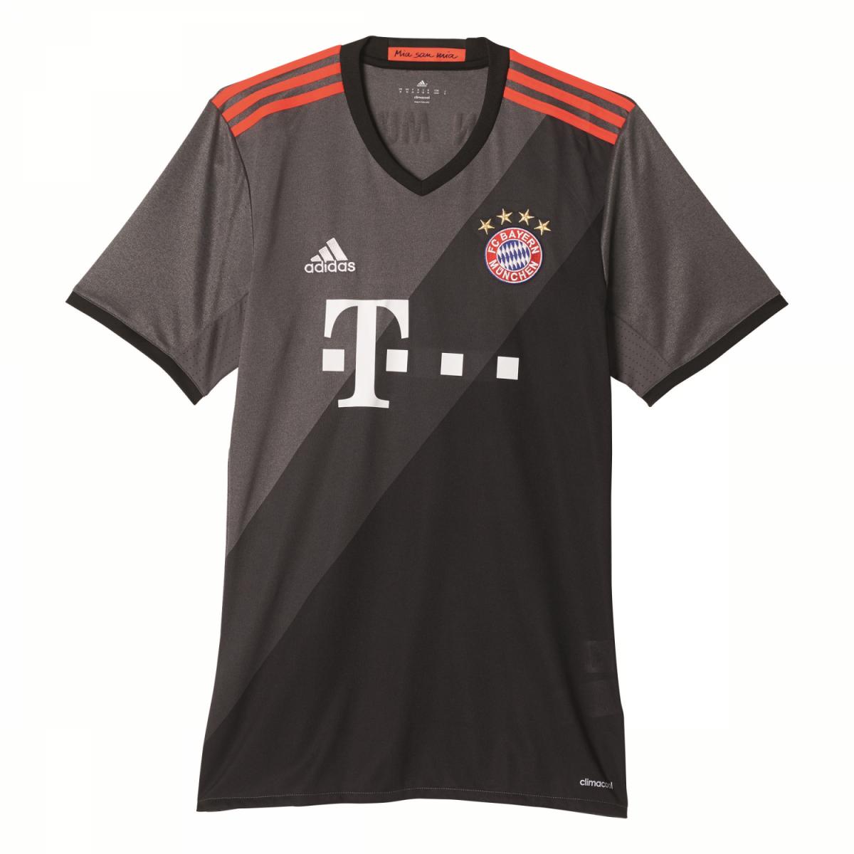 adidas FC Bayern München Away Trikot Herren 2016/2017 grau