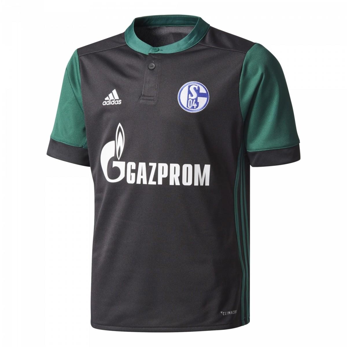 adidas FC Schalke 04 Kinder Ausweichtrikot 3rd 2017/2018 schwarz grün