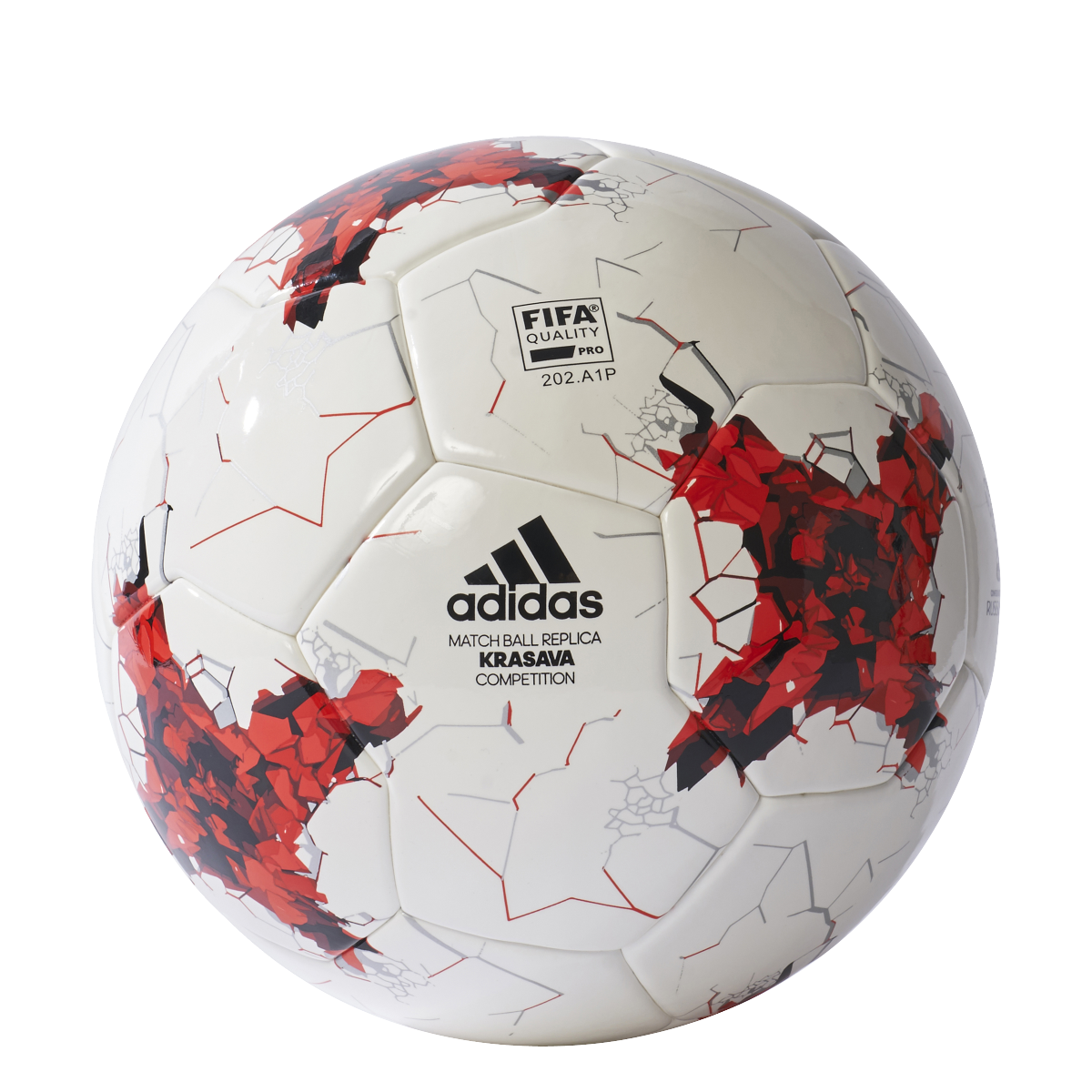 adidas Fußball Confederations Cup Competition Trainingsball weiß rot