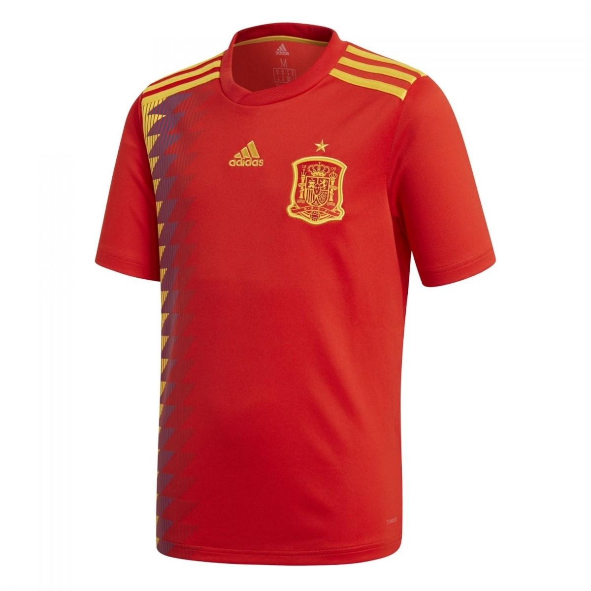 adidas Spanien Heimtrikot Kinder Home WM 2018 rot gold