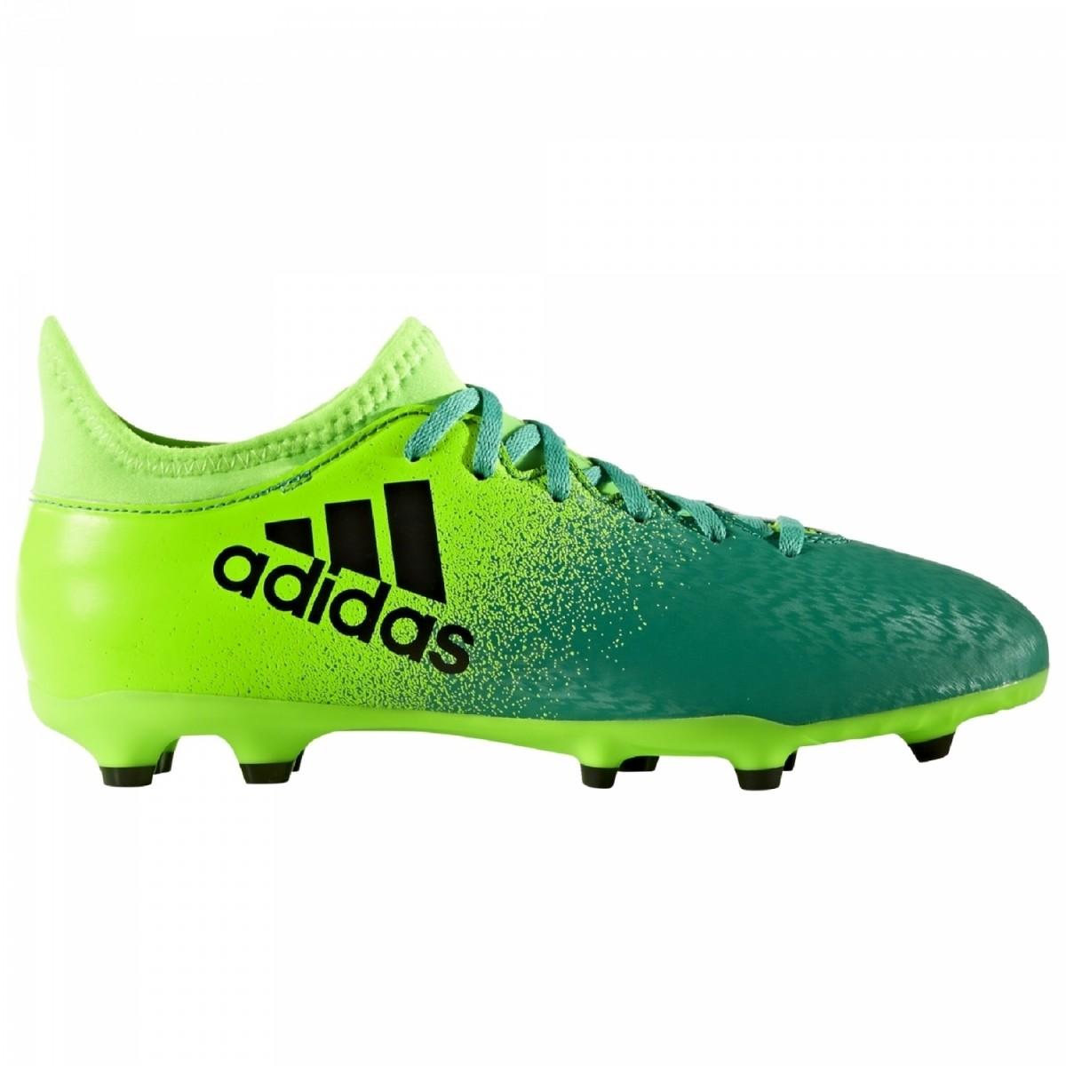 adidas X 16.3 FG Kinder Fußballschuhe Nocken grün