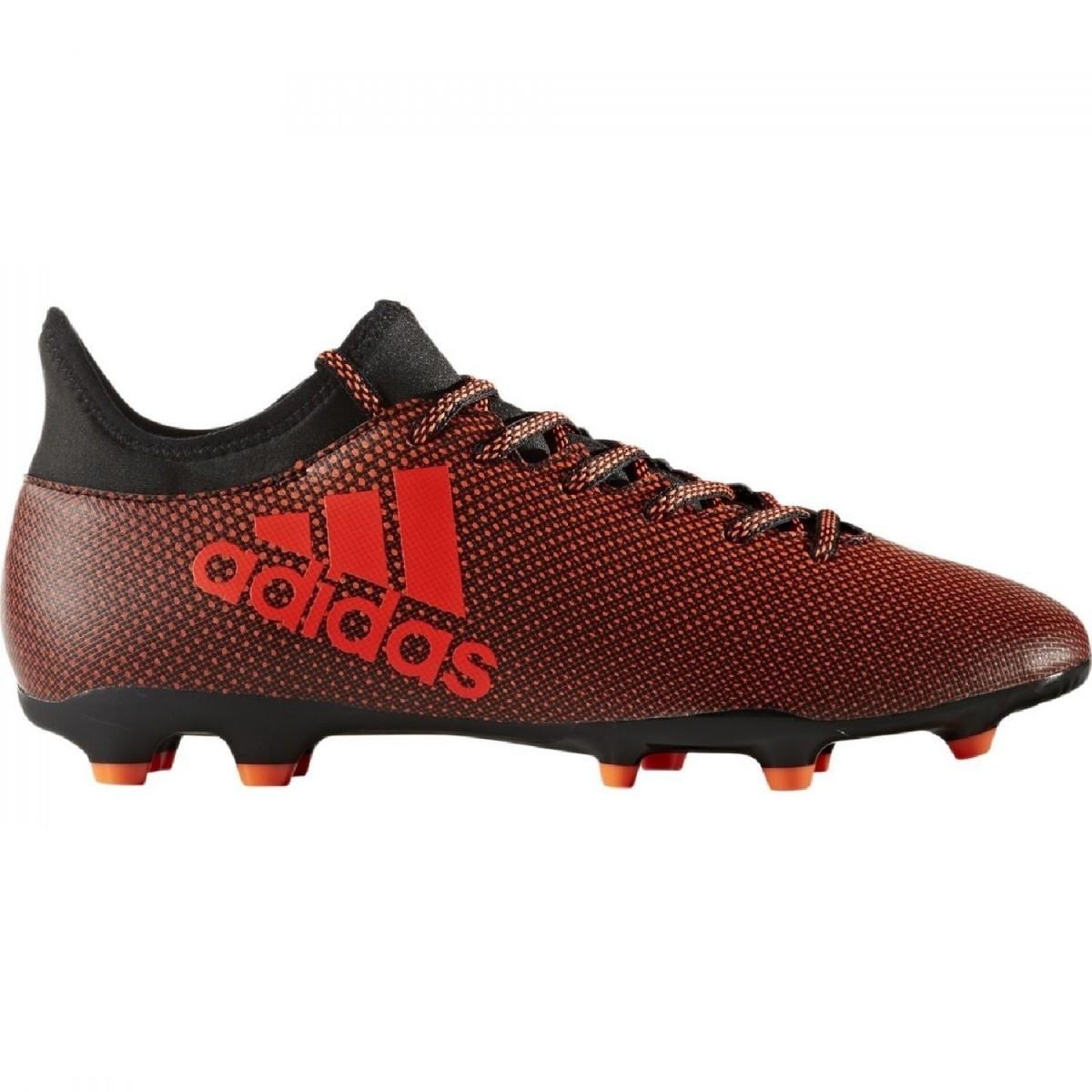 adidas X 17.3 FG Herren Fußballschuhe Nocken schwarz rot