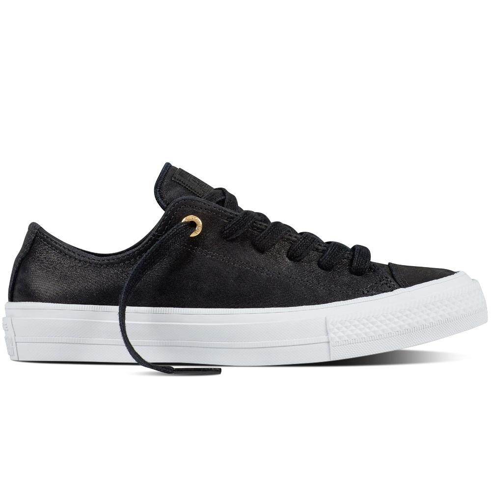 Converse Chuck Taylor All Star II Craft Leather II OX Sneaker Damen Schuhe schwarz