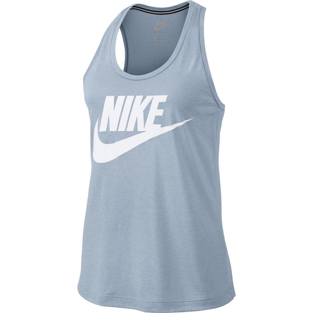 Nike Essential Damen Tanktop Camo mit Logo blau weiß