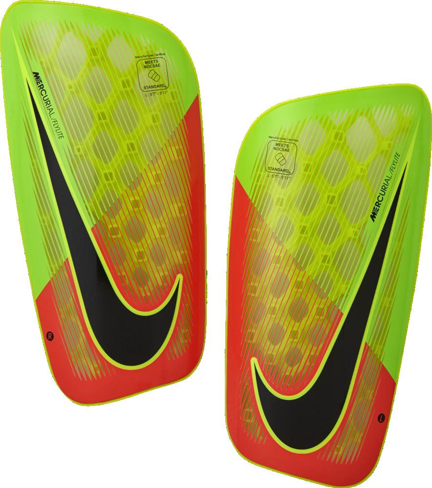 Nike Mercurial Flylite Shin Guard Schienbeinschoner Fußball grün orange