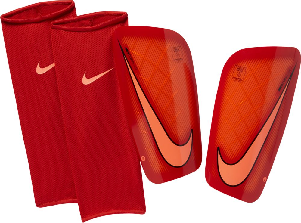 Nike Mercurial Lite Shin Guard Schienbeinschoner rot orange