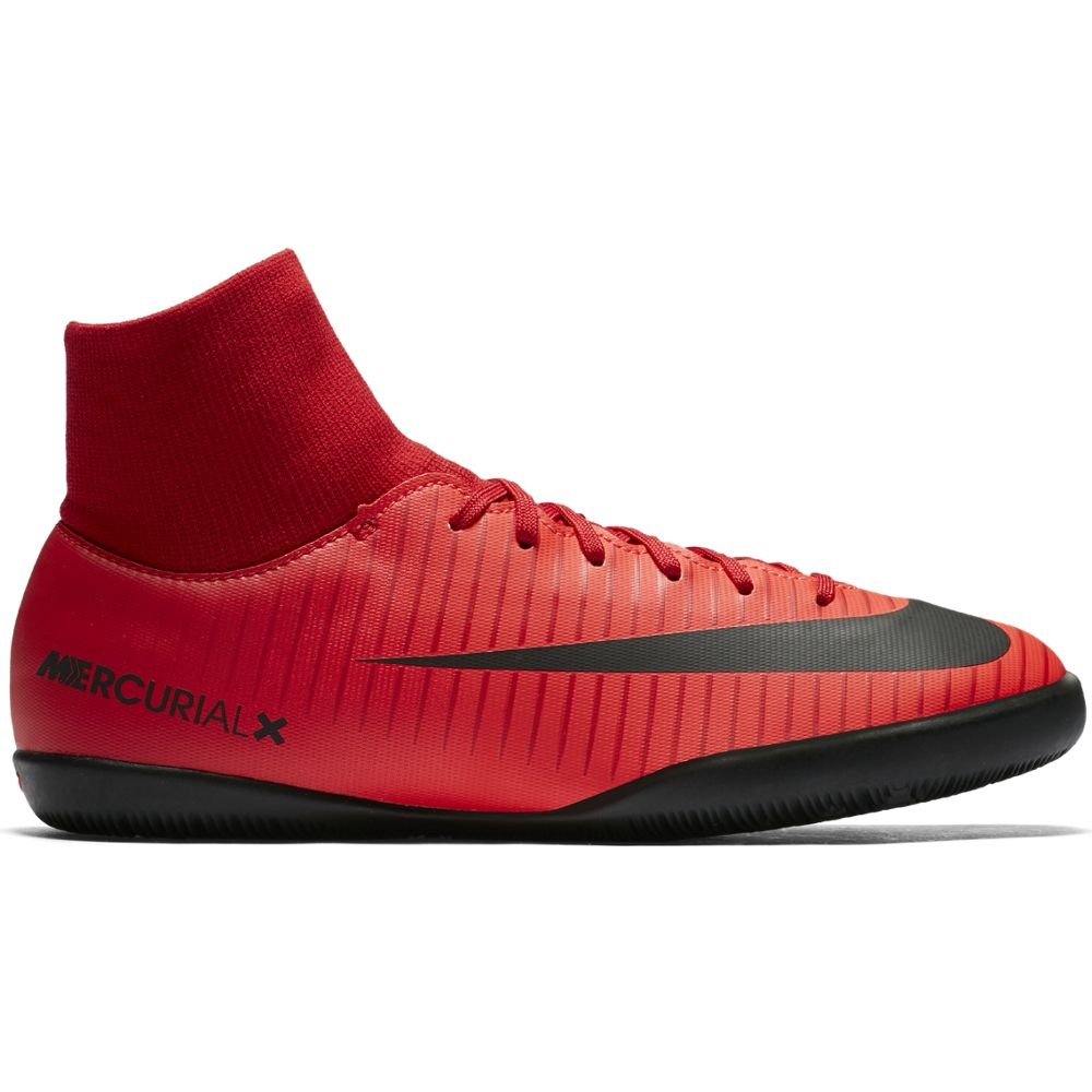Nike MercurialX Victory VI Dynamic Fit IC Kinder Hallenschuhe rot schwarz