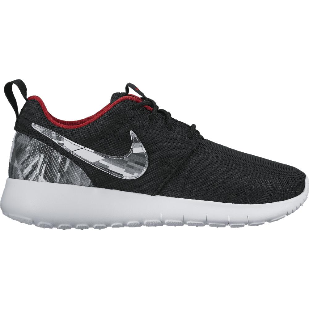 Nike Roshe One Print GS Sneaker Kinder Freizeitschuhe schwarz grau