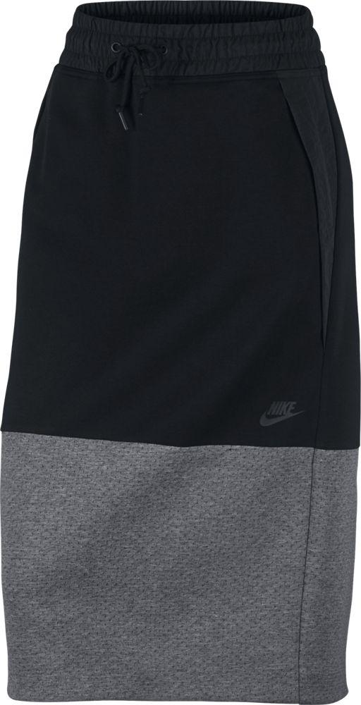 Nike Sportswear Tech Fleece Damenrock schwarz grau
