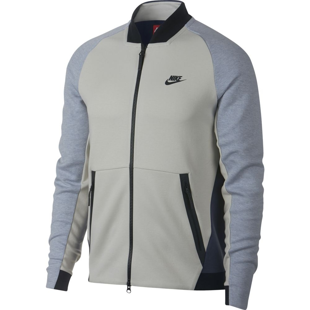 Nike Tech Fleece Varsity Jacket Fleecejacke grau Herren