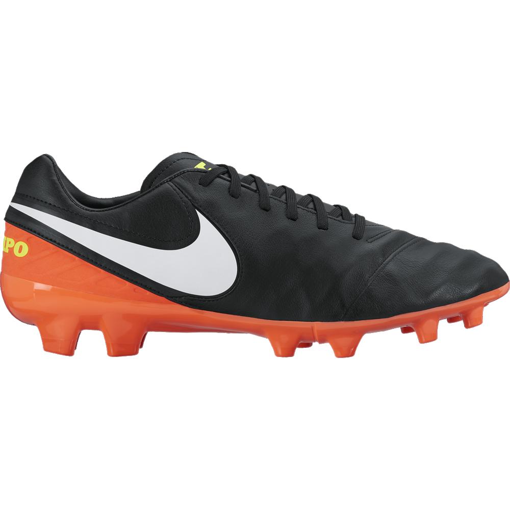 Nike Tiempo Mystic V FG Herren Fußballschuhe Nocken schwarz/orange