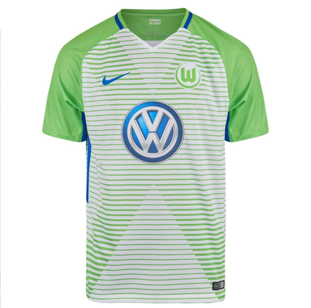 Nike VfL Wolfsburg Heimtrikot Herren Home 2017/2018 grün