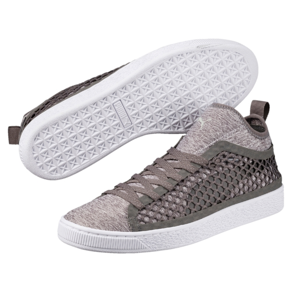 Puma Basket Classic Netfit Sneaker Herren Schuhe beige weiß