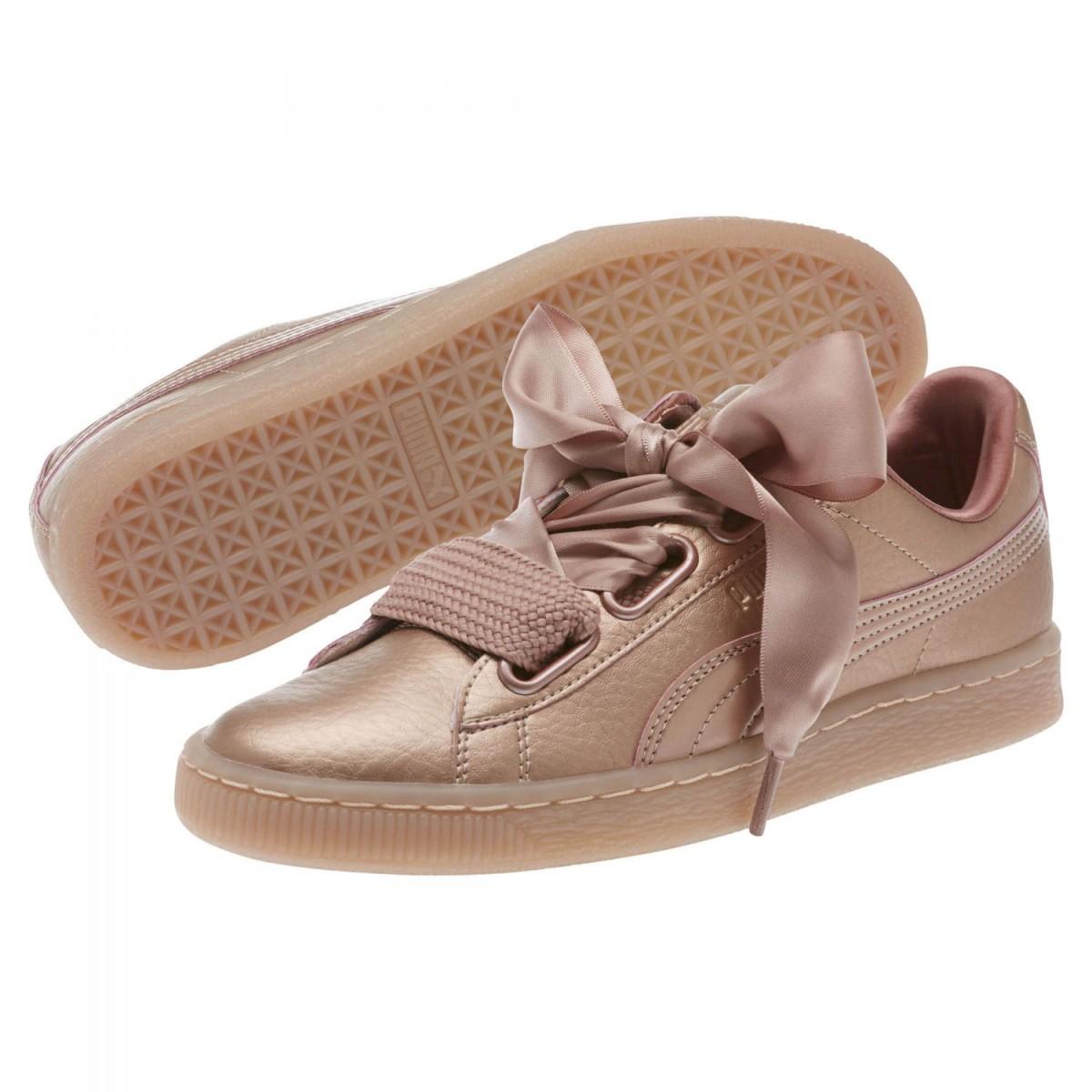 Puma Basket Heart Copper Sneaker Damen Schuhe rose