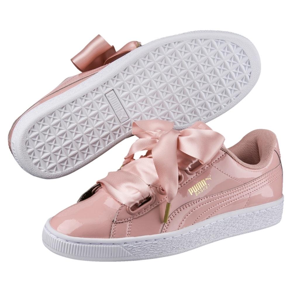 Puma Basket Heart Patent Sneaker Damen Schuhe peach