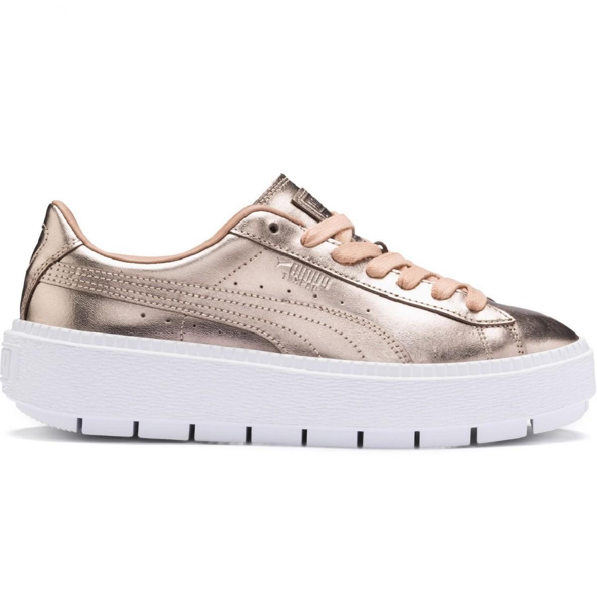 Puma Basket Platform Trace Luxe Sneaker