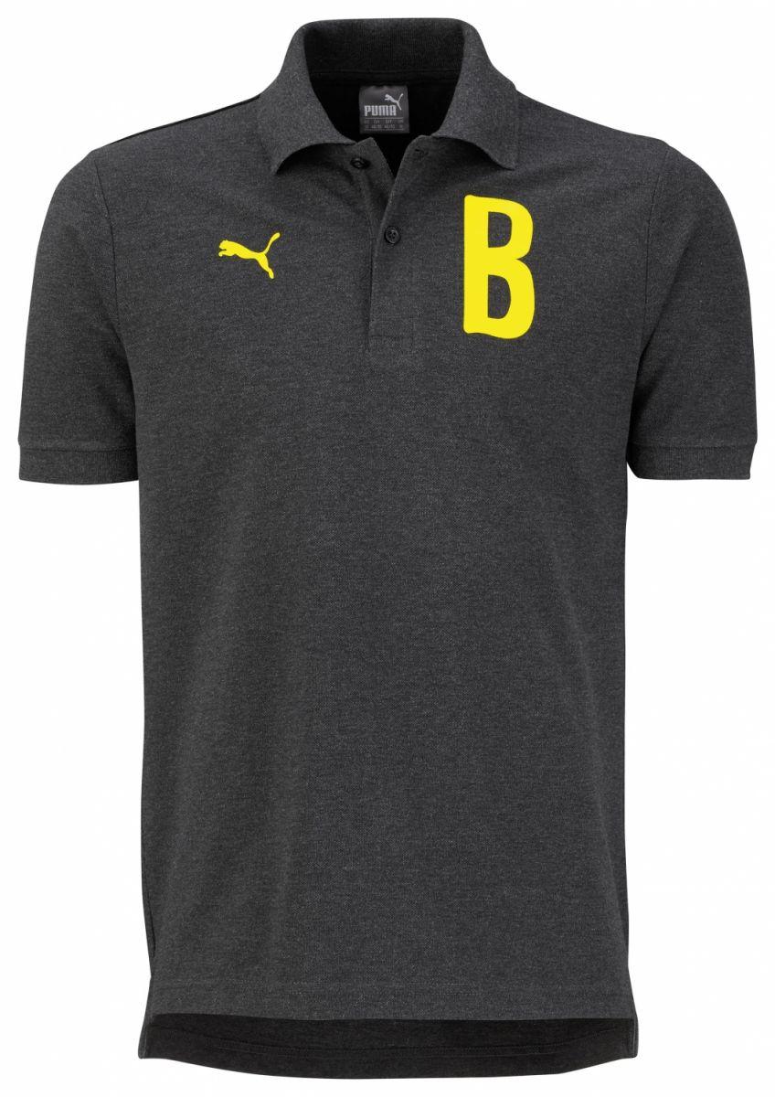 Puma Borussia Dortmund B Graphic Poloshirt Herren dunkelgrau