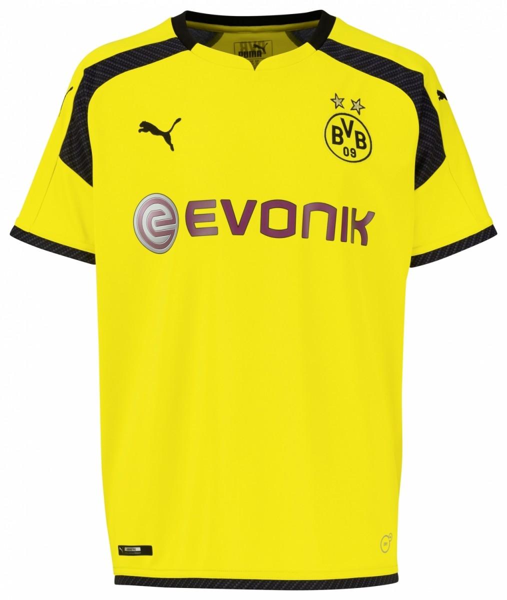 Puma Borussia Dortmund International Kinder Trikot BVB UCL 2016/2017 gelb