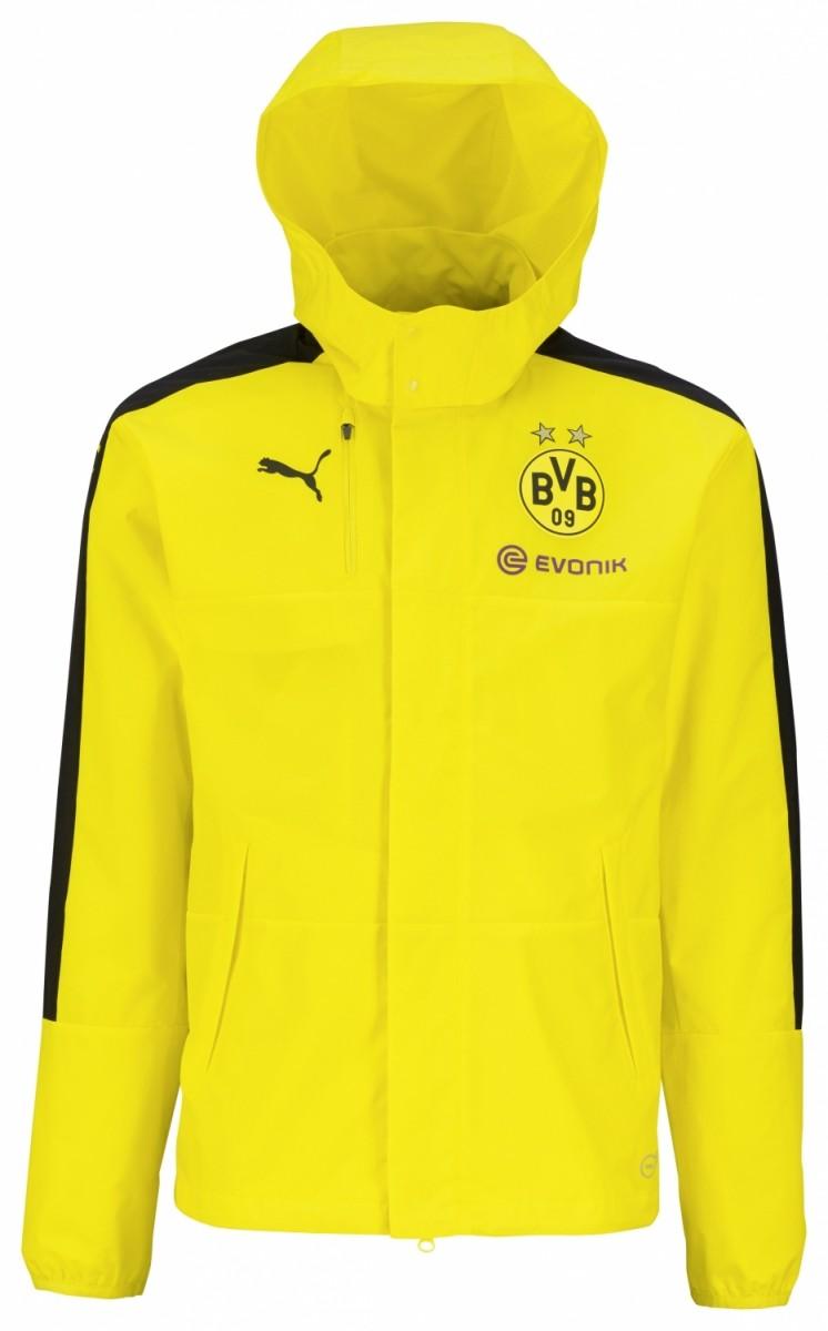 Puma BVB Borussia Dortmund Rain Jacket Herren Regenjacke gelb