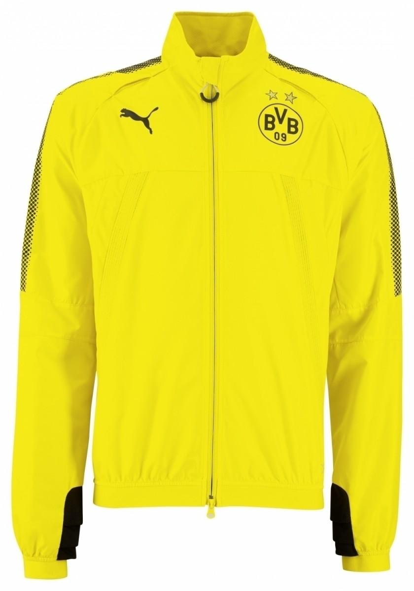 Puma BVB Borussia Dortmund Stadium Herren Jacke gelb