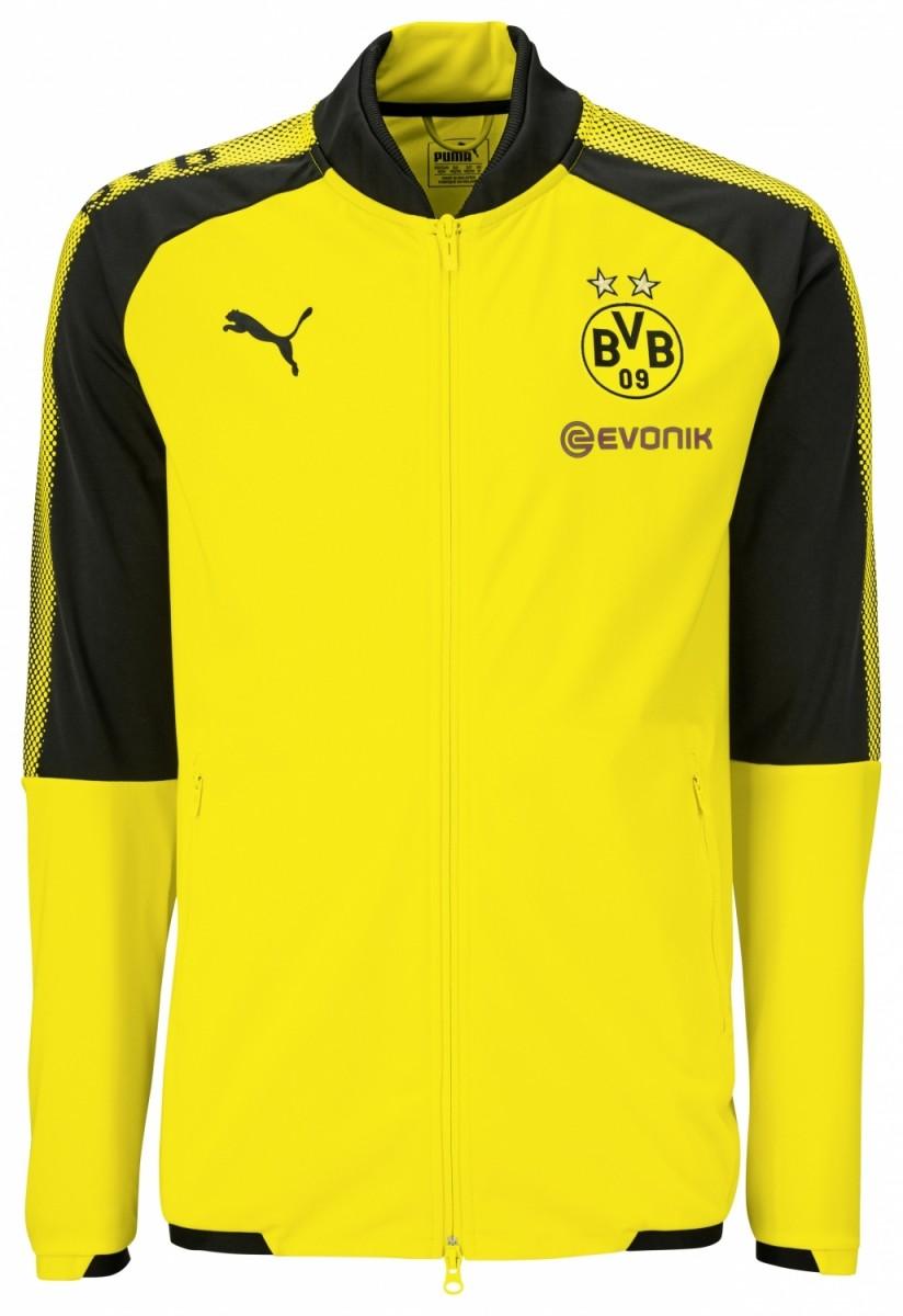 Puma BVB Poly Jacket Herren Jacke Borussia Dortmund gelb schwarz