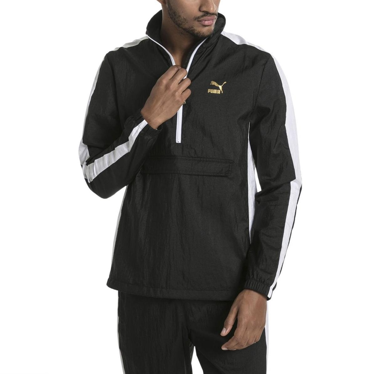 Puma T7 BBoy Track Jacket Herren Trainingsjacke schwarz weiß