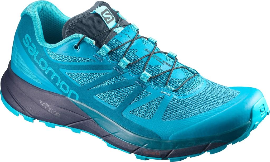 Salomon Sense Ride Damen Laufschuhe Running blau