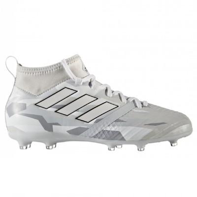 adidas ACE 17.1 FG Kinder Fußballschuhe Nocken weiß grau