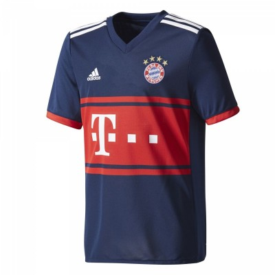 adidas FC Bayern München Kinder Auswärtstrikot Away 2017/2018 blau rot