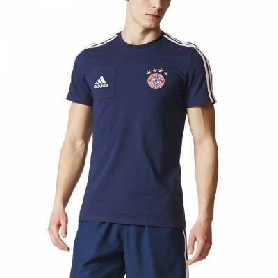 adidas FC Bayern München Tee Herren T-Shirt blau