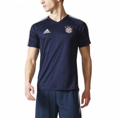 adidas FC Bayern München Trainingstrikot Herren T-Shirt blau weiß