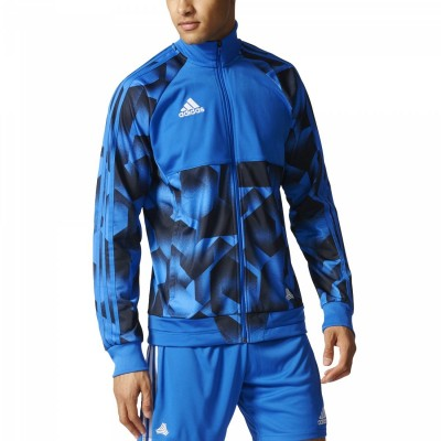 adidas Tango Cage Jacket Herren Fußballjacke blau