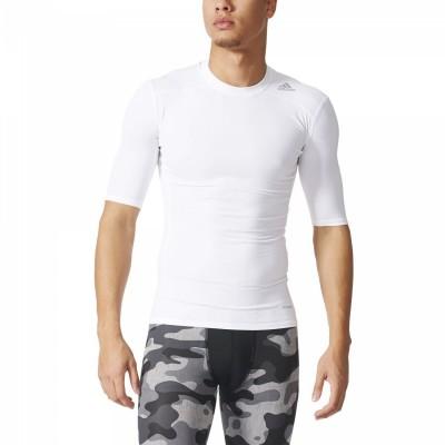adidas Techfit Base Tee Herren Trainingsshirt weiß