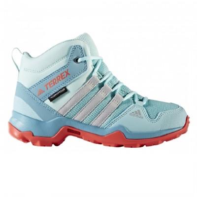 adidas Terrex AX2R Mid CP Kinder Wanderschuhe hellblau coral