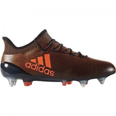 adidas X 17.1 SG Herren Fußballschuhe Stollen schwarz orange