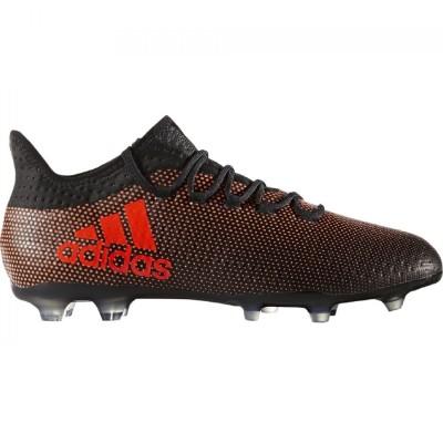 adidas X 17.2 FG Herren Fußballschuhe Nocken schwarz rot