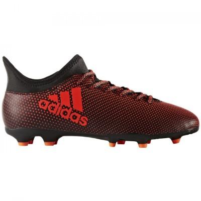 adidas X 17.3 FG Kinder Fußballschuhe Nocken schwarz rot