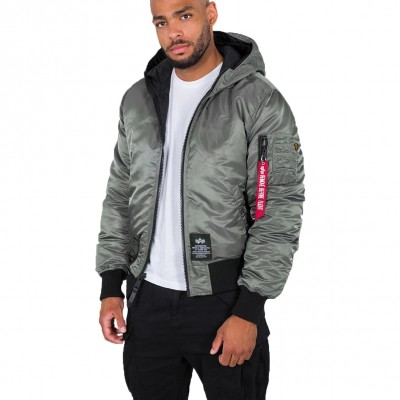 Alpha Industries Hooded Puffer Reversible Jacket