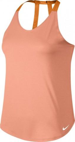 Nike Breathe Training Tank Elastika Damen Fitnessshirt Sunset Glow