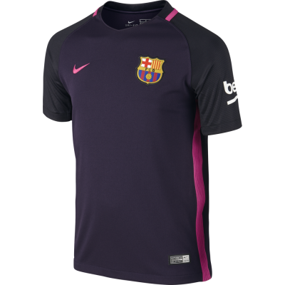 Nike FC Barcelona Away Trikot Kinder 2016/2017 schwarz pink