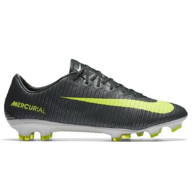 Nike Mercurial Vapor XI CR7 FG Herren Fußballschuhe Nocken anthrazit/neongrün