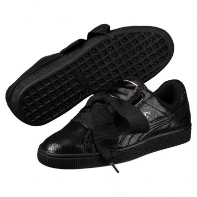 Puma Basket Heart NS Sneaker Damen Schuhe schwarz