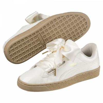 Puma Basket Heart Patent Sneaker Damen Schuhe Marshmallow