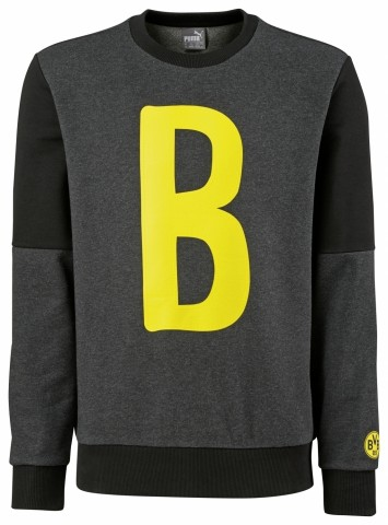 Puma Borussia Dortmund B Graphic Sweatshirt Herren Pullover dunkelgrau