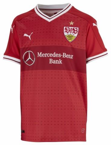 Puma VfB Stuttgart Auswärtstrikot Kinder Away 2017/2018 rot