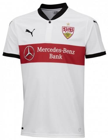 Puma VfB Stuttgart Heimtrikot Kinder Home 2017/2018 weiß schwarz rot