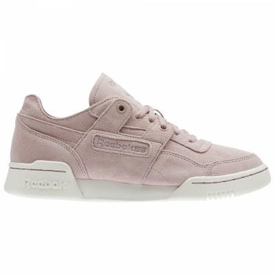 Reebok Workout Lo Plus FBT Sneaker Damen Schuhe pink beige
