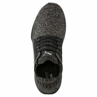 Puma Tsugi Netfit evoKnit Sneaker Herren Schuhe schwarz grau